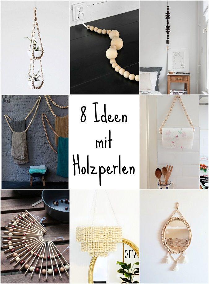 inspiration 8 bastel ideen mit holzperlen green bird diy diy diy jewelry und basteln. Black Bedroom Furniture Sets. Home Design Ideas