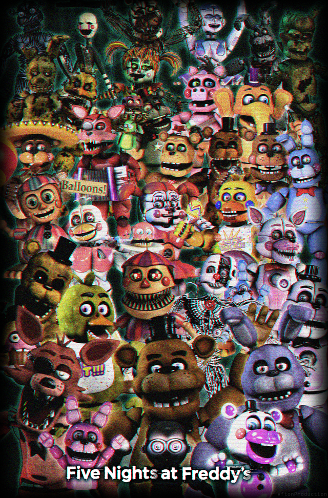 Five Nights At Freddy's Characters Names And Pictures : nights, freddy's, characters, names, pictures, Fazbunker, Drawings,, Nights, Freddy's,, Wallpapers
