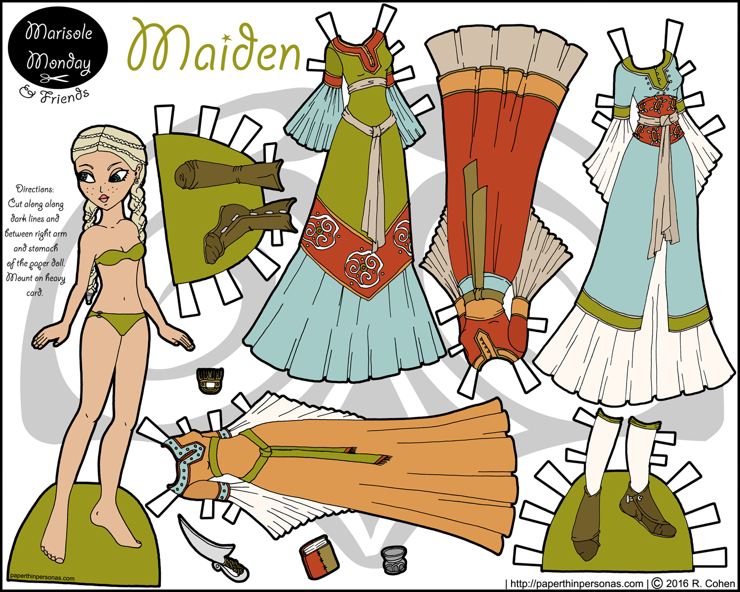 Maiden A Printable Princess Paper Doll Paper Dolls