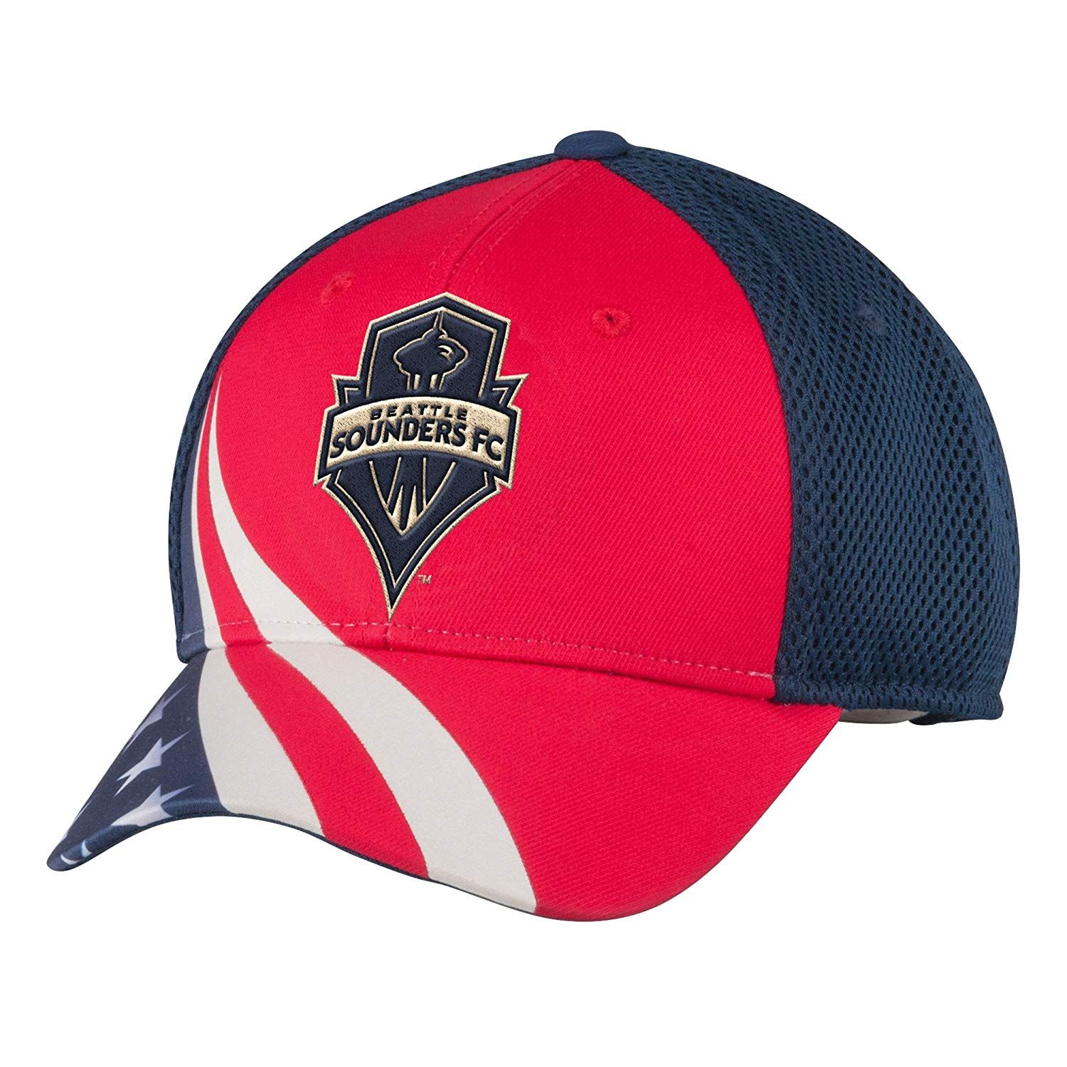 787a5ad3a90 MLS Seattle Sounders FC Men s Patriotic Mesh-Back Structured Adjustable Cap