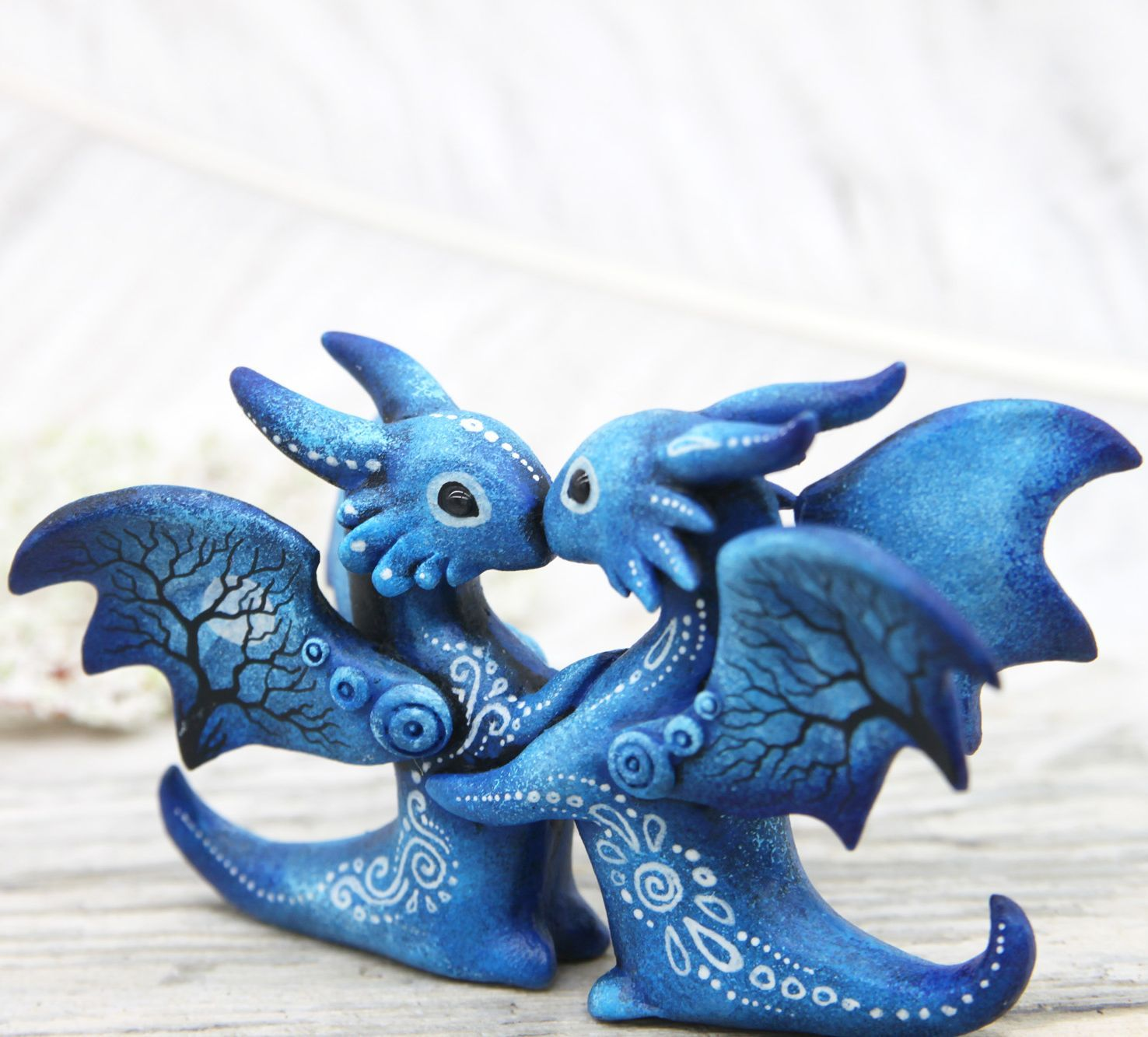 Wedding Cake Topper Couple Dragons Love Figurine By Evgeny Hontor Dragon Sculpture Clay Dragon Sculpture Clay