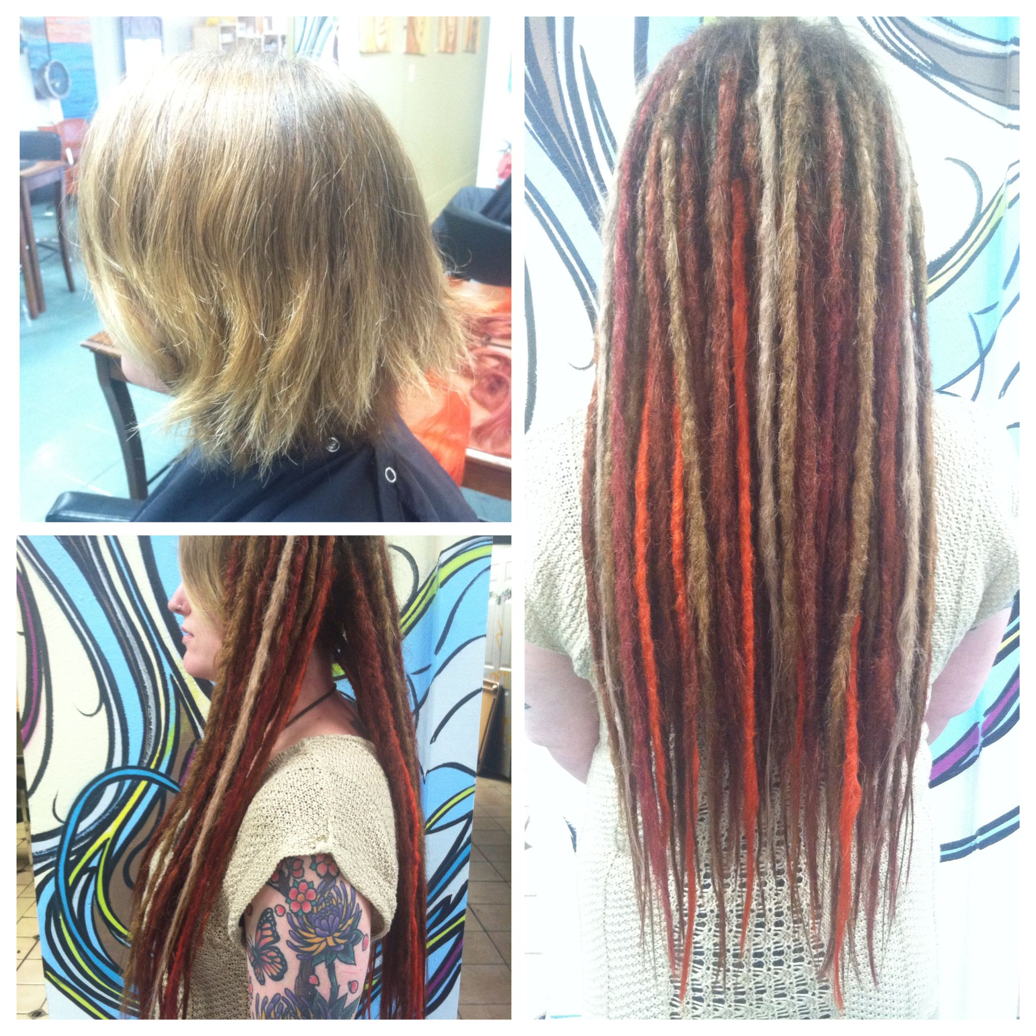 Synthetic Dread Installation At Des Moines G Spot Hair Design