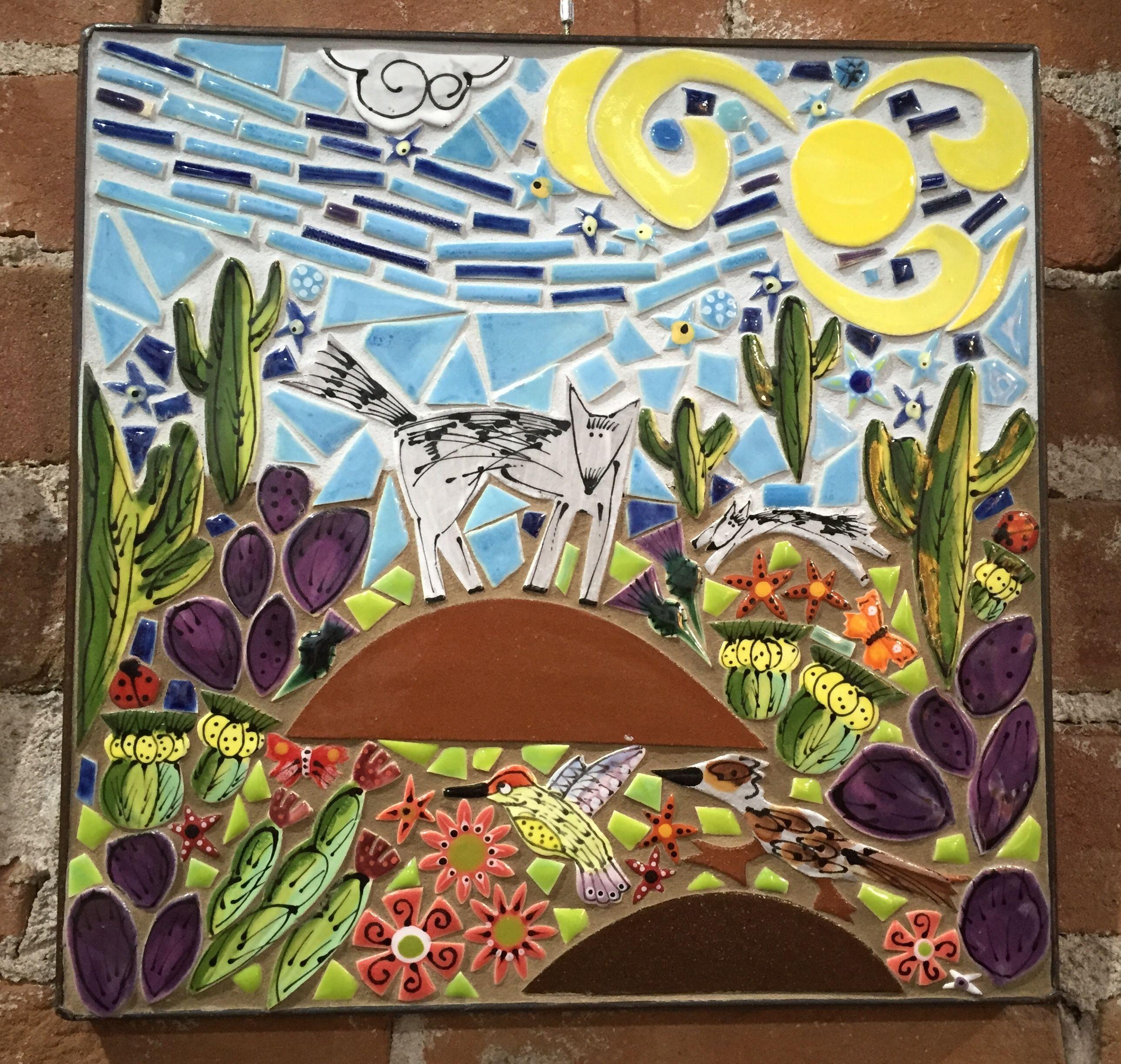 In The Desert Santa Theresa Tile Works In 2020 Mosaic Art Handmade Mosaic Tile Art