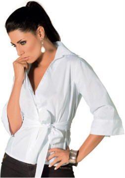 df7518805 Camisa Social Branca Feminina  Como Usar Mulher Beleza