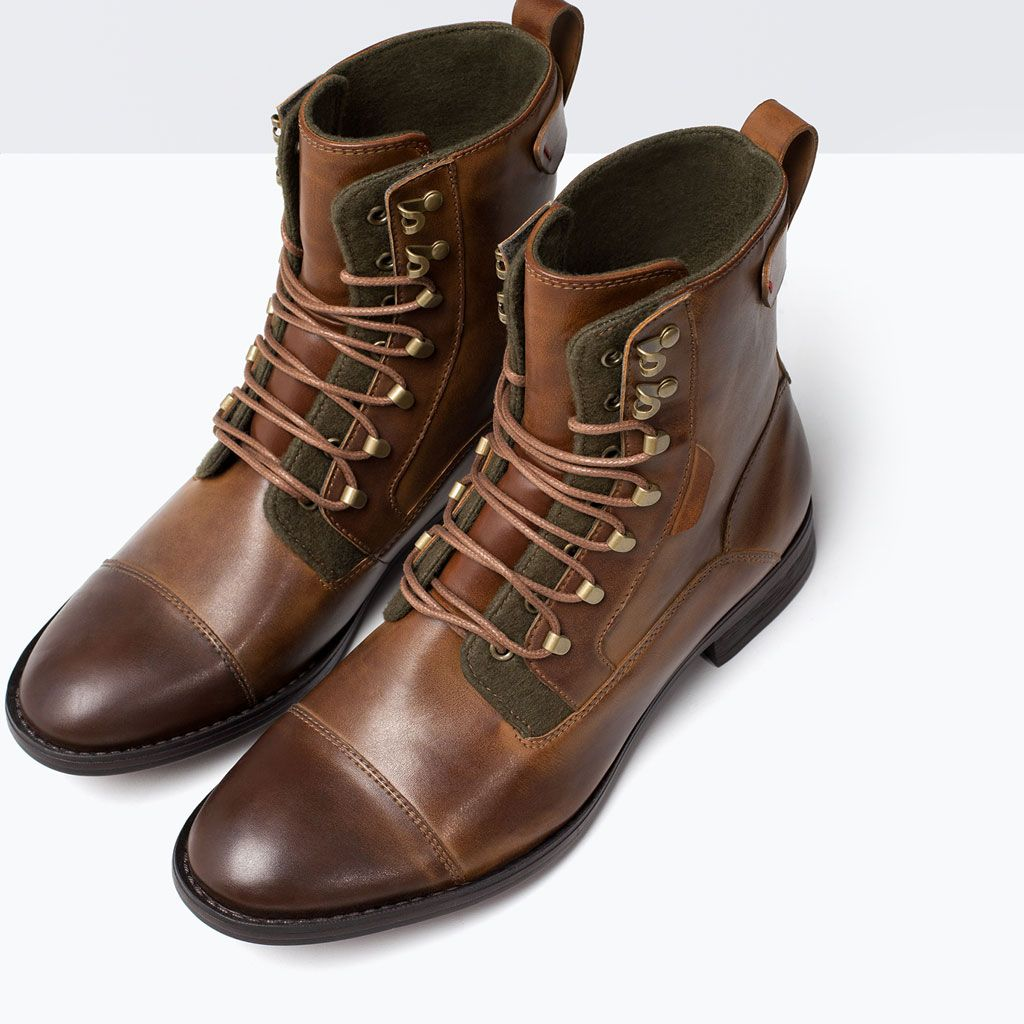 Image 3 of LACE-UP WORK BOOT from Zara