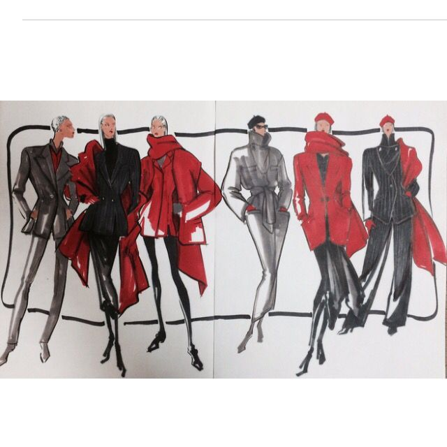 Design Sketches I did for my project for Anne Klein interview in 1990