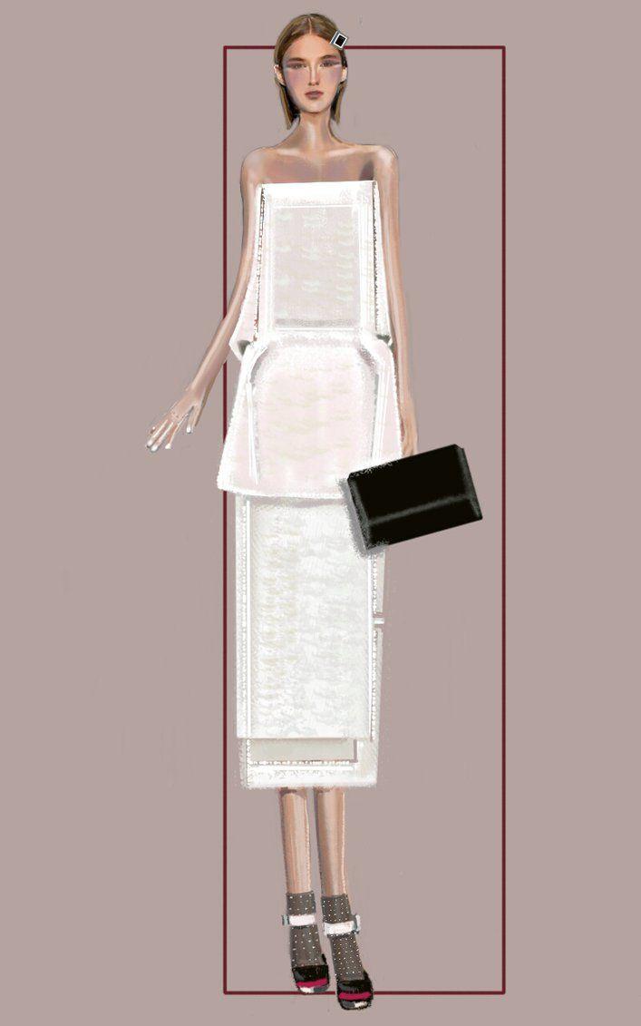 """Column 2"" Sketch | Stefania Belmonte | my collection | Fashion Illustration"