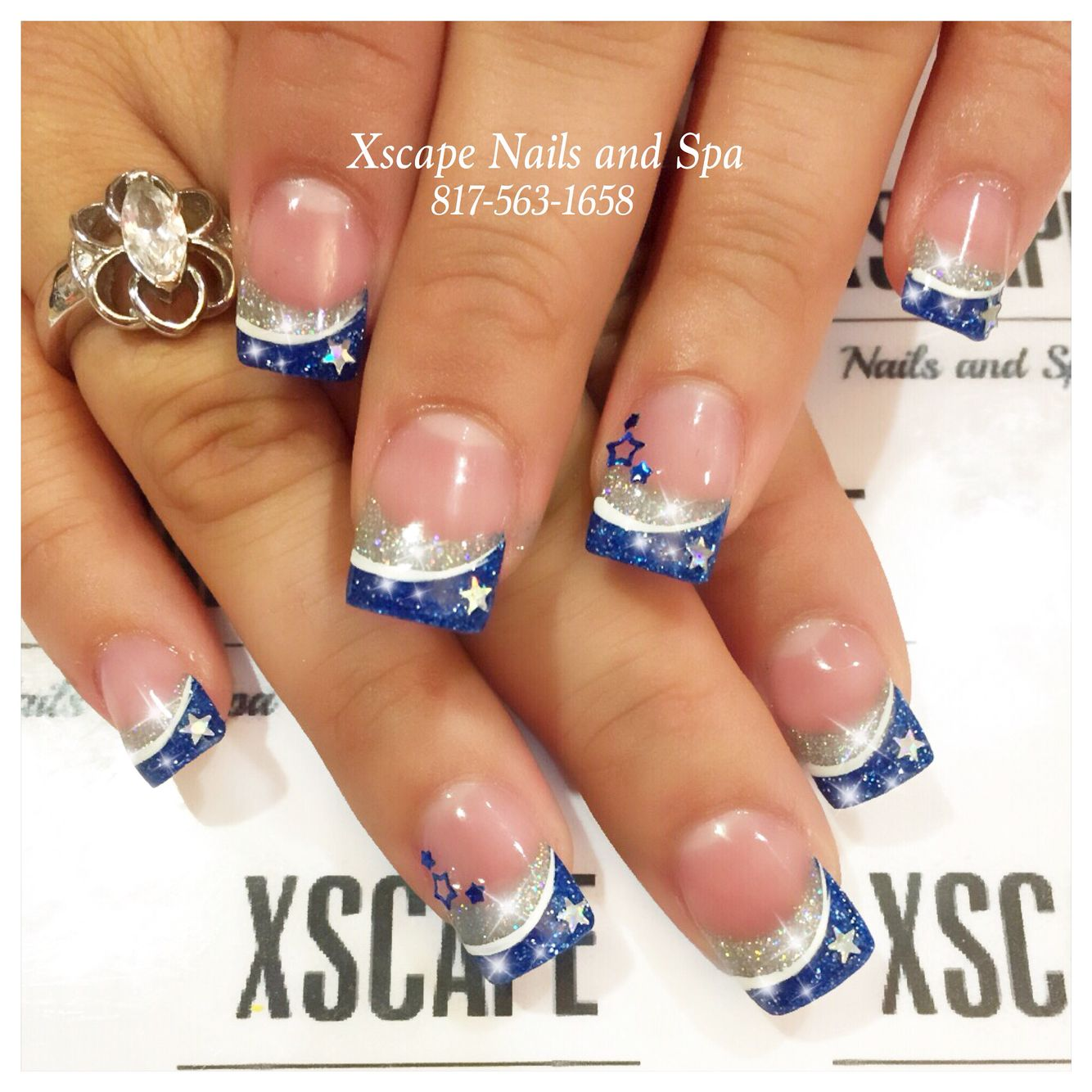 Dallas Cowboys Nails Short Nails Art Pinterest Dallas Cowboys