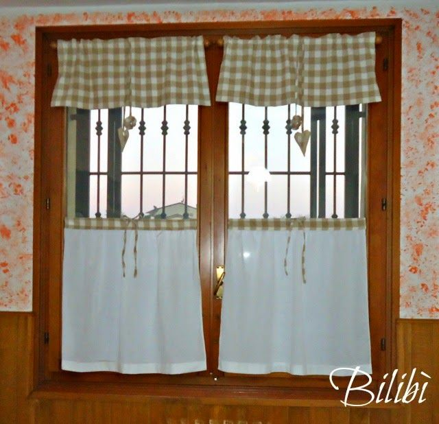 Tendine per cucina | tendine | Pinterest | Curtain ideas, Shabby ...