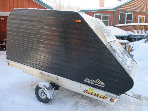 Sled Shed Single Snowmobile Trailer Less Than 10 000 Miles Tires