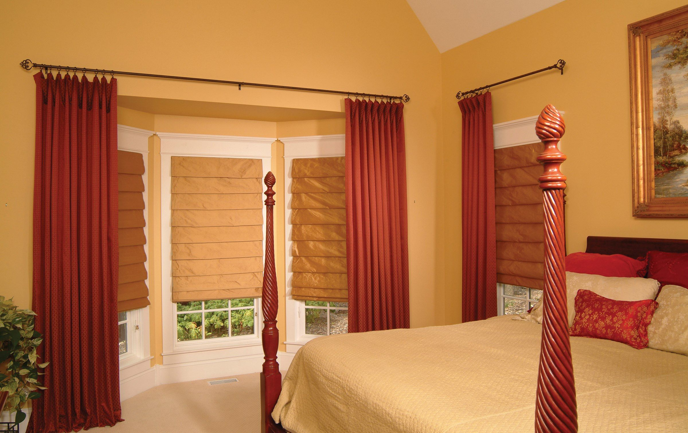 Master bedroom yellow walls  Cool Design Window Treatments on a Budget  decorating  Pinterest