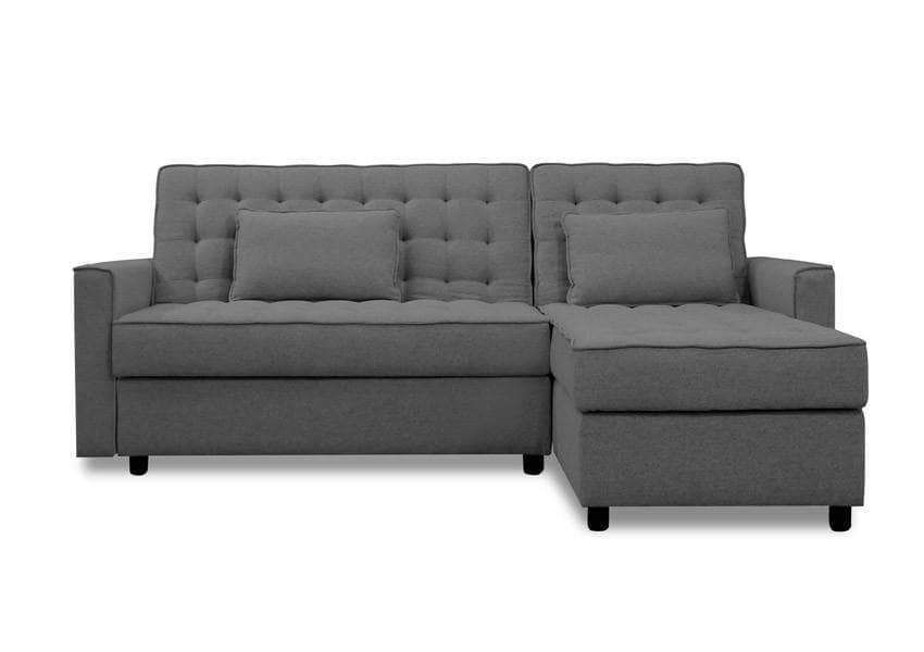 Celine Modular Tufted Reversible Sleeper Sectional Sofa Bed With Storage Available In 4 Colours Sofa Bed With Storage Sectional Sleeper Sofa Modern Sofa Bed
