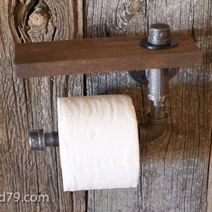 Photo of RYOBI NATION – DIY Rustic Scrap Wood and Pipe Toilet Paper Holder