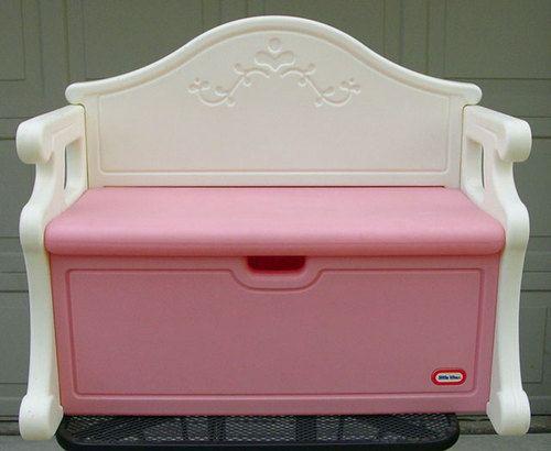 Little Tikes Victorian Play Kitchen vintage victorian little tikes tykes pink & white toy bench full
