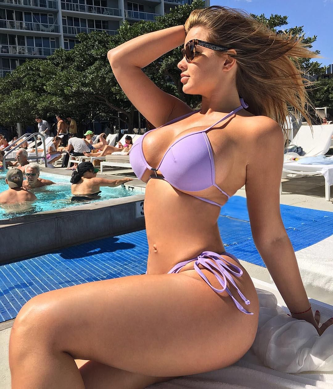 Big tits in a hot tub