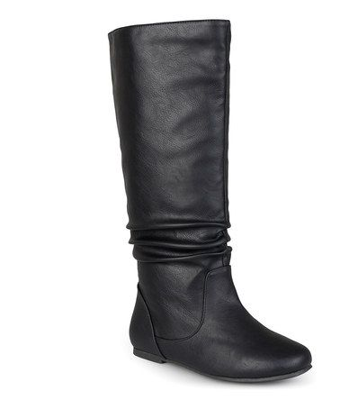 Love this Black Joey Wide-Calf Boot by Journee Collection on #zulily! #zulilyfinds