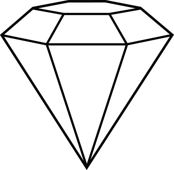 Diamond Shape Outline Coloring Pages Kids Play Color