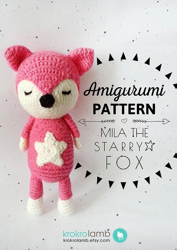 Amigurumi Pattern, Crochet Fox Pattern, Amigurumi Fox Pattern, Fox ...