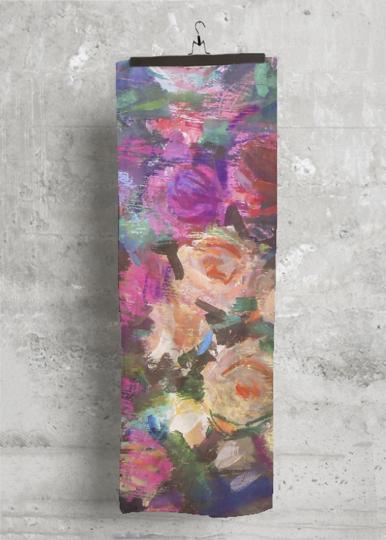 Cashmere Silk Scarf - Yellow Roses by VIDA VIDA v9c2bp