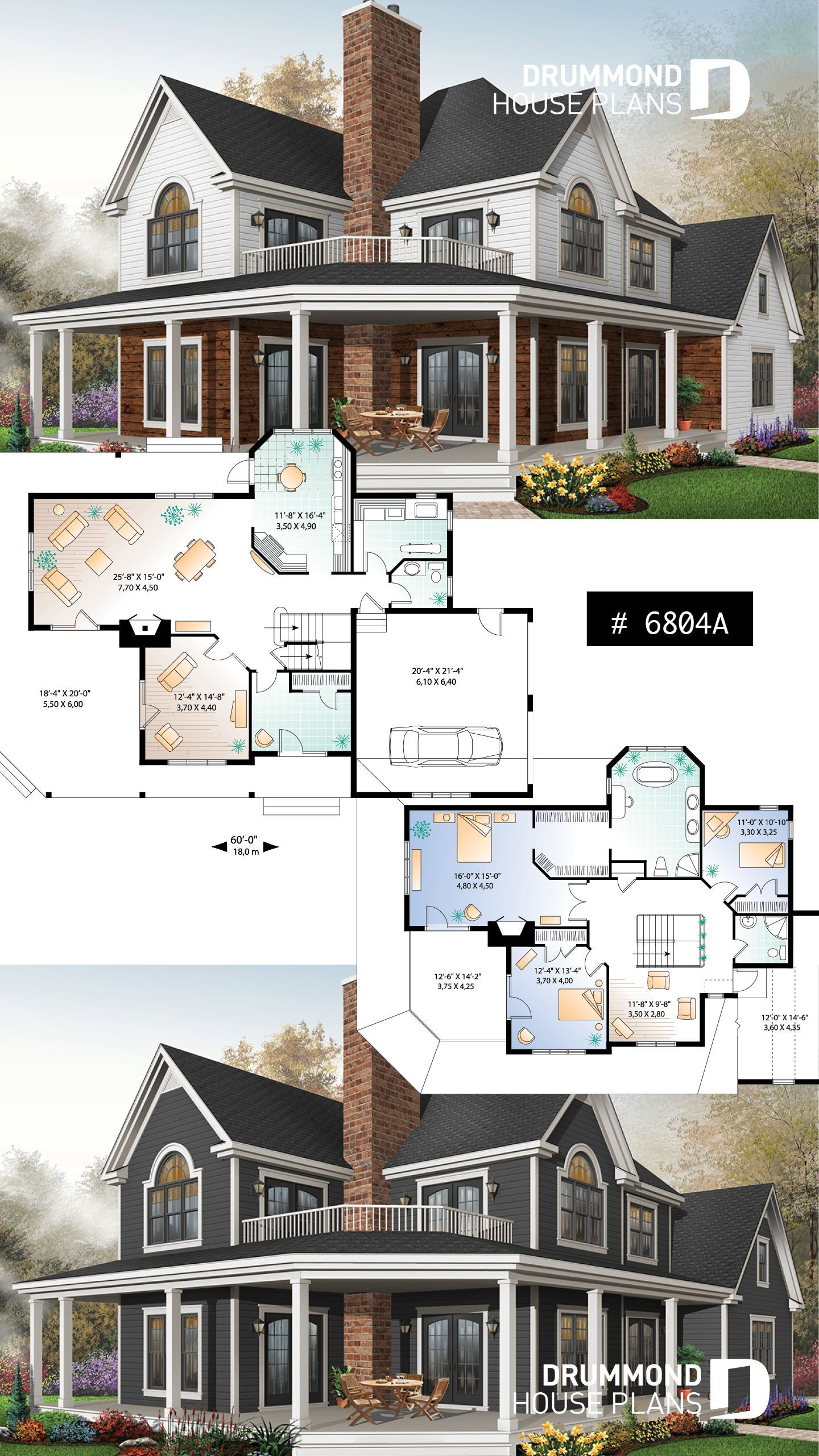 Discover the plan 6804A Mt Meridian 3 which will please you for its 3 4 bedrooms and for its Country styles