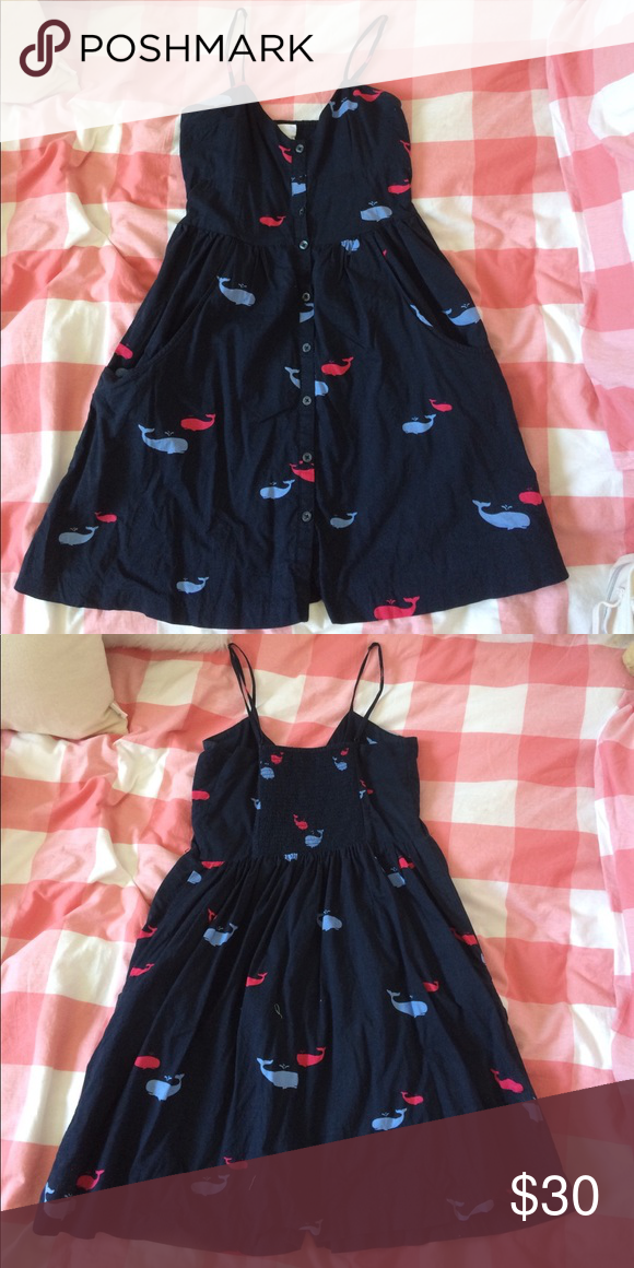 a02f8d8c447 Cooperative whale dress Whale sun dress with button front and pockets  Cooperative Dresses