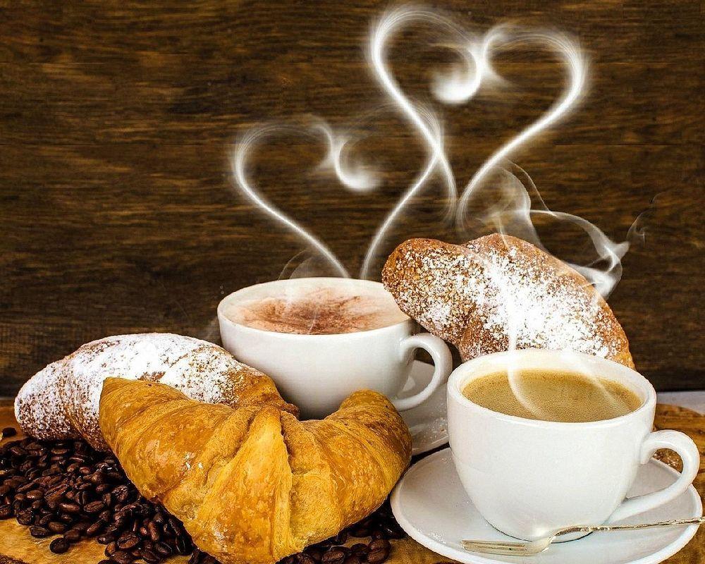 Открытка с чашкой кофе доброе утро
