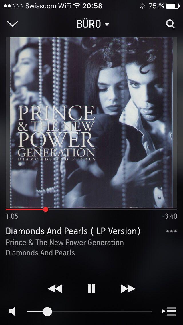 """Auf @Sonos läuft gerade """"Diamonds And Pearls ( LP Version)"""" von Prince & The New Power Generation #NowPlaying"""