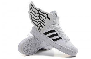 a3280ddcae4d Originals Adidas Jeremy Scott Wings 2.0 New White Black Shoes