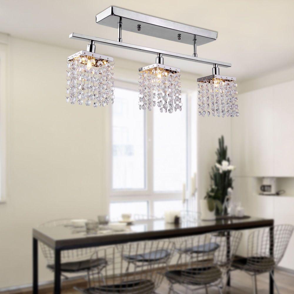 Crystal chandelier ceiling lamp light pendant modern lights