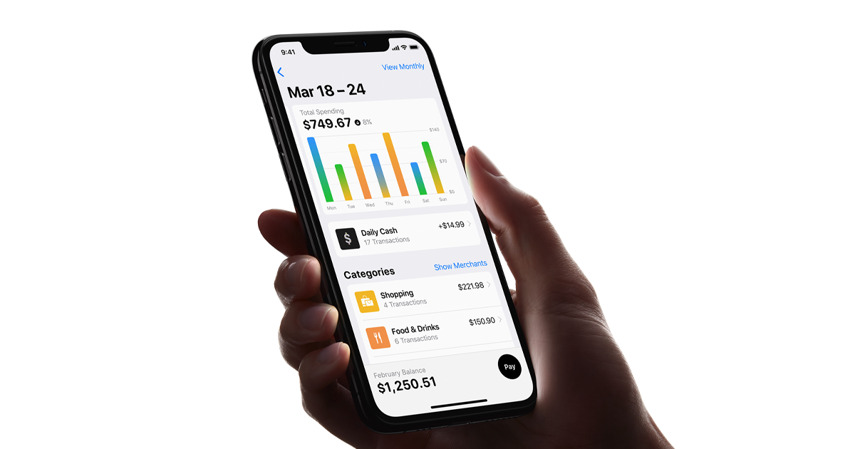Apple Card helps you stay on top of your spending