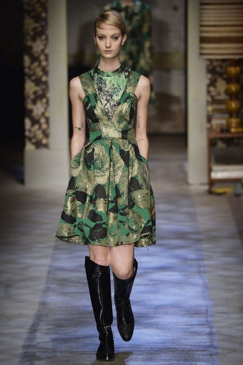 Erdem. Brocade florals were THE look in London. See all the prints on its fall 2015 runways.