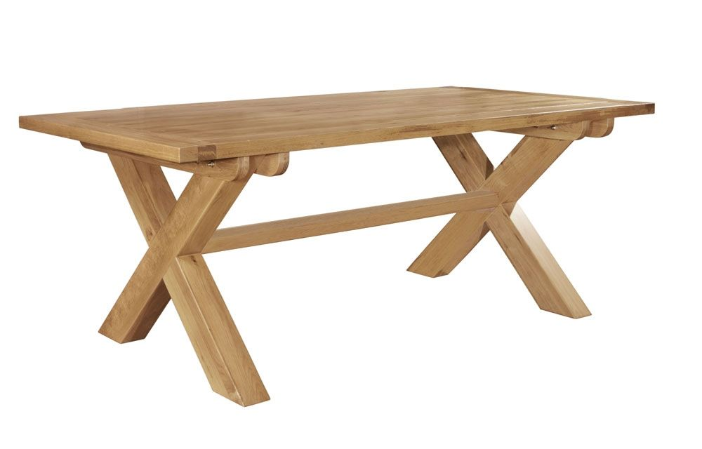 Chiltern Grand Oak Fixed Top Cross Leg Dining Table Is Crafted From Solid North American Oak With Tongue And Dining Table Legs Solid Oak Furniture Dining Table