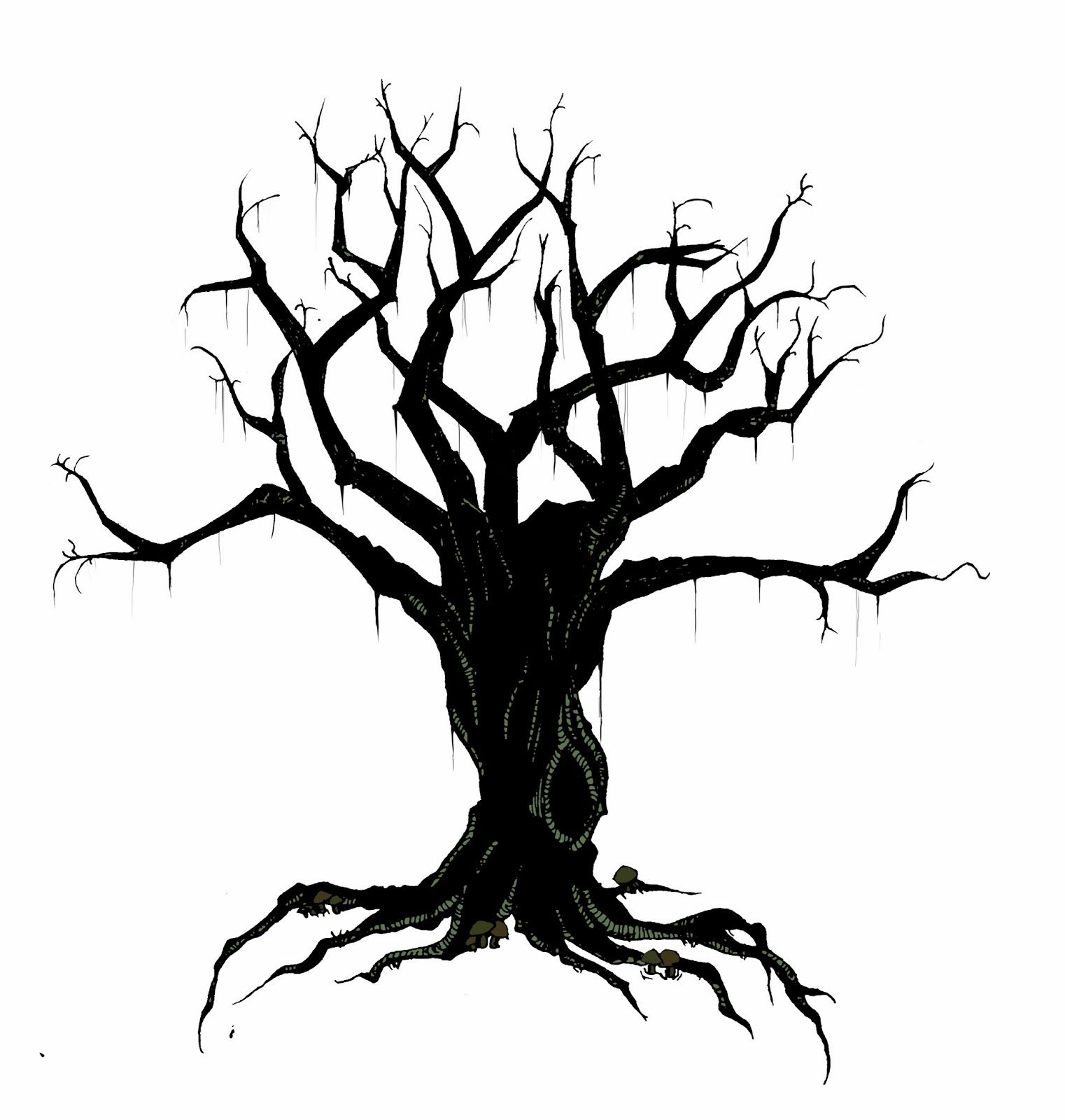 creepy bird in tree silhouette creepy tree ravens