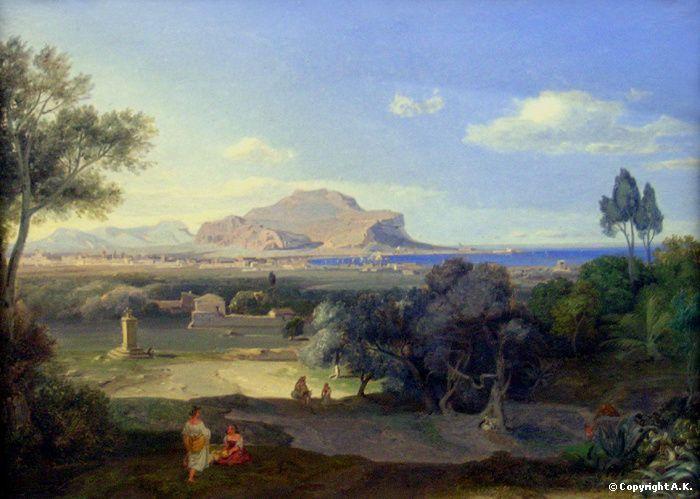 Carl Rottmann : Palermo with Mount Pellegrino - Painting in Munich around 1800 : Johann Georg von Dillis - Wilhelm von Kobell - New ...