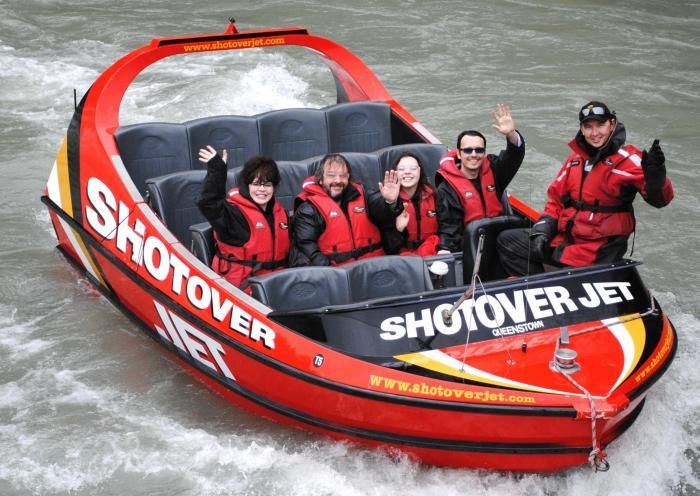 Shotover Jet Celebrity Faces Peter Jackson in Queenstown, New Zealand ready for an adventure