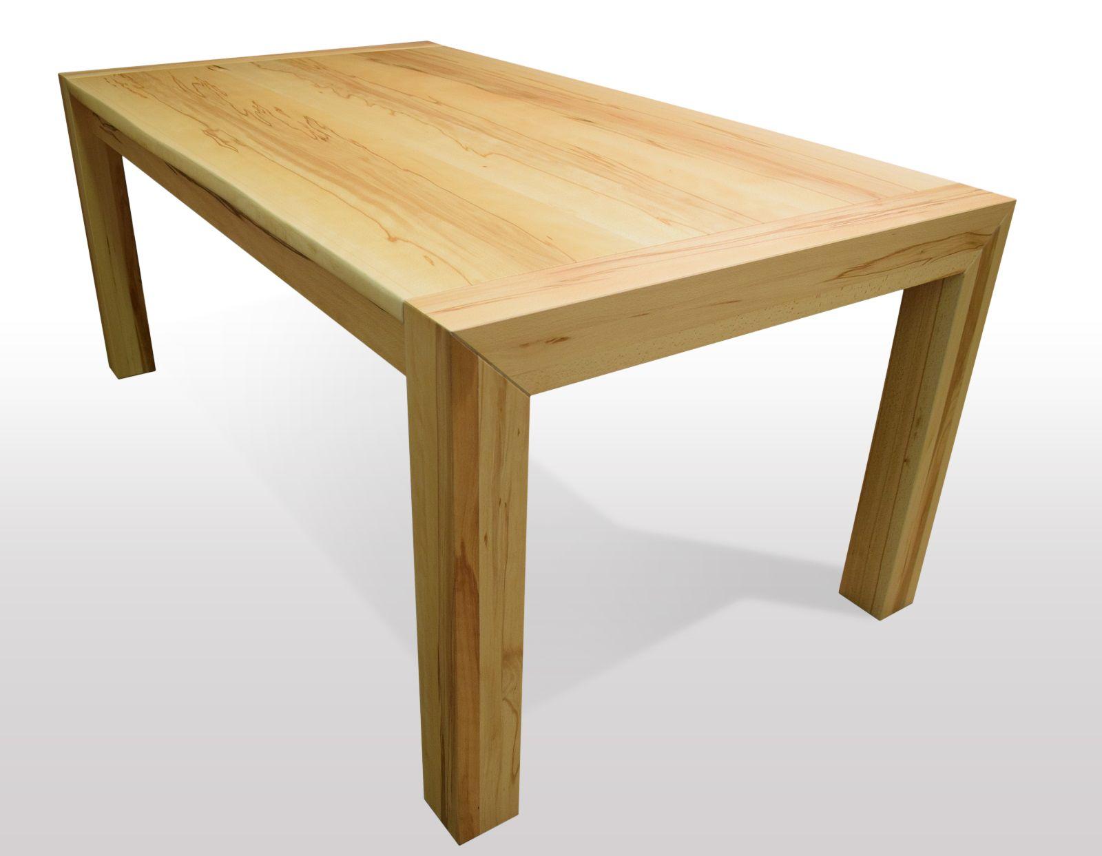 Tisch mit Baumkante Kernbuche Breite 80cm / Länge
