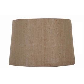 Portfolio 10-in x 15-in Burlap Drum Lamp Shade, Lowes $24.97 (13 top, 15 bottom, 10 high).