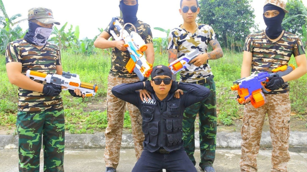 Nerf War Special Action Movie Criminal Police SWAT Nerf Guns vs Specia.