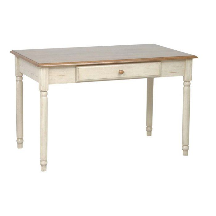 Country Cottage Antique White Computer Desk to use as a table ...
