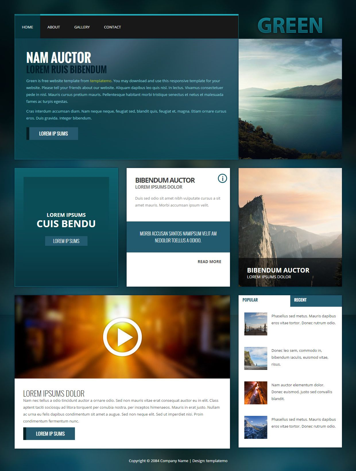 449 Green Template Css Templates Html And Css Templates Templates