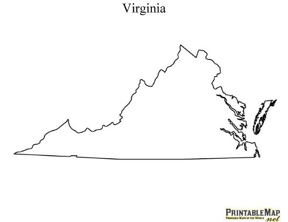 Printable Map of Virginia, Stuart Brazil: I pinned this for the
