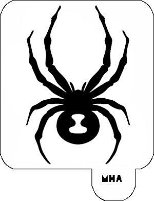 hair art stencil - spider 5 ole