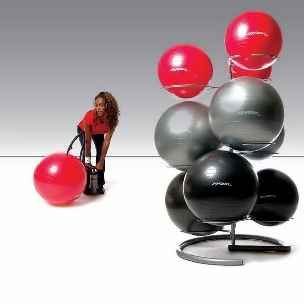 Wall Mount Pvc Exercise Ball Rack Ball Exercises Therapy Ball Ball Storage