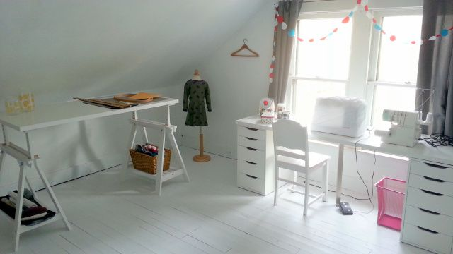 Strange Sewing Tables Using Linnmon Table Tops And Trestle Supports Download Free Architecture Designs Rallybritishbridgeorg