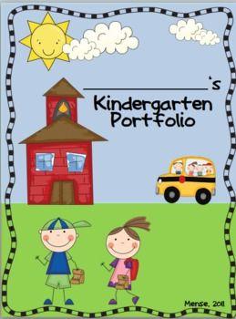 Kindergarten Portfolio And Memory Book Kindergarten