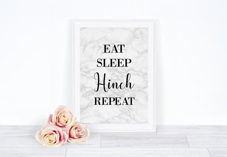 Eat Sleep Hinch Repeat Print Wall Art Print Kitchen Print Home Decor Mrs Hinch Kitchen Wall Art Kitchen Art Work Kitchen Decor Hinch Kitchen Prints Wall Art Prints Office Wall Art