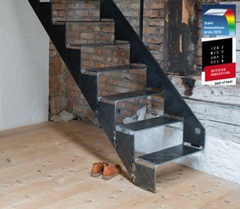 schnittgutttreppe 8 0 von spitzbart treppen treppe designtreppe metalltreppe stahltreppe. Black Bedroom Furniture Sets. Home Design Ideas