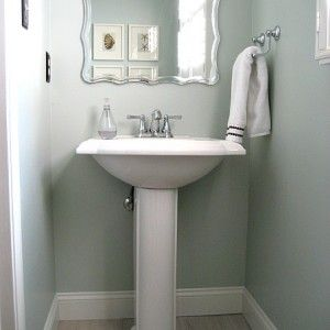 powder room: sherwin williams quietude | pretty handy girl | all