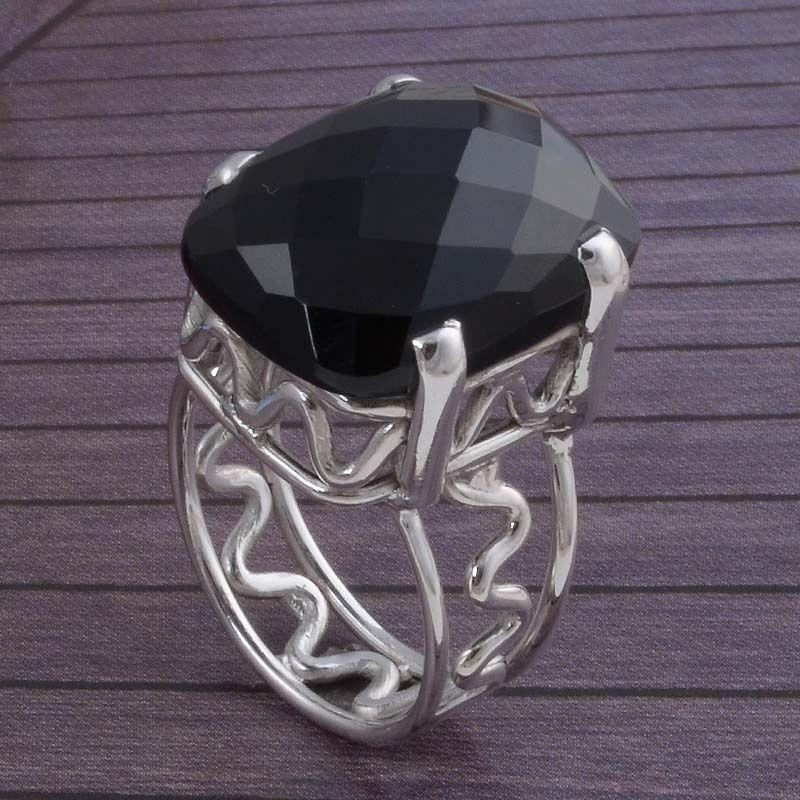 Latest Design 925 SOLID STERLING SILVER Black Onyx Cut RING 8.72g DJR3486 #Handmade #Ring