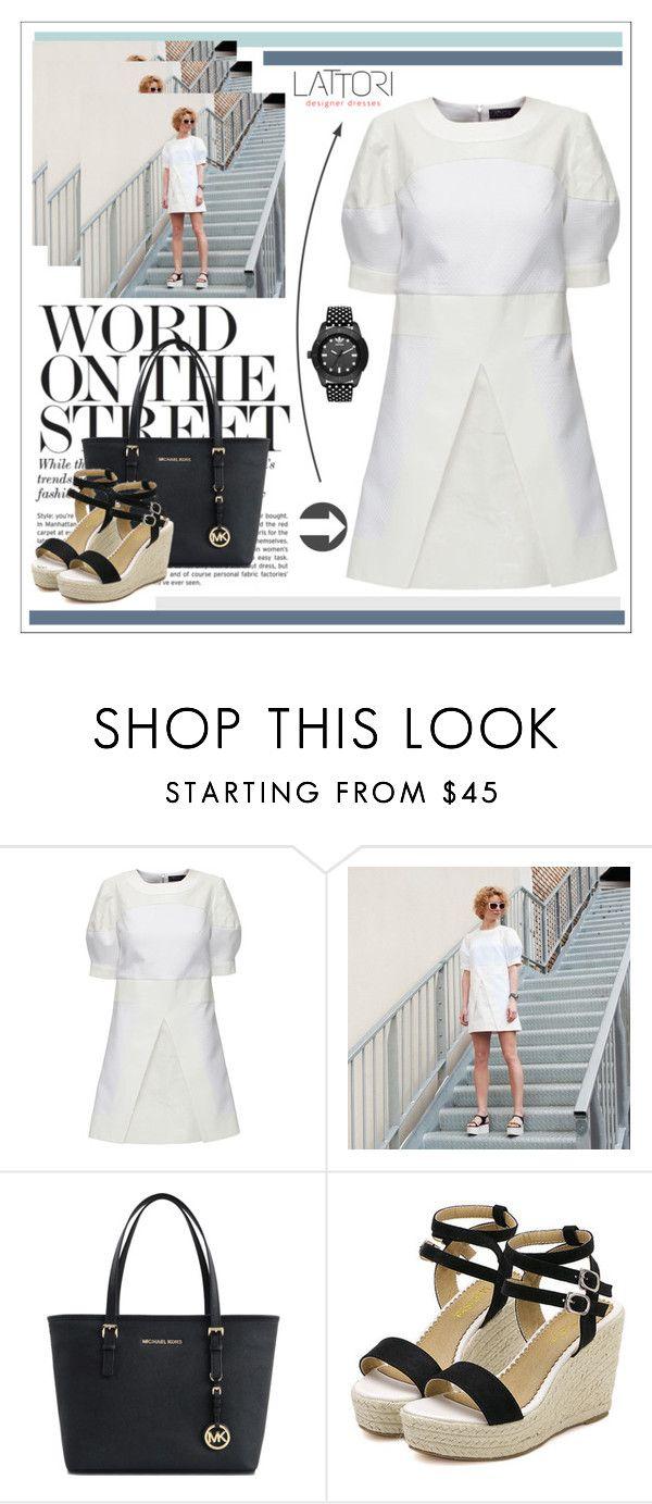 """LATTORI dress"" by water-polo ❤ liked on Polyvore featuring Lattori, Michael Kors, adidas Originals, polyvoreeditorial and lattori"